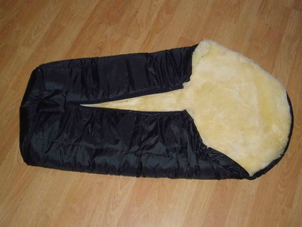 Sheepskin baby sleeping bag